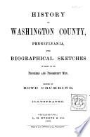History of Washington County  Pennsylvania
