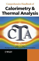 Comprehensive Handbook Of Calorimetry And Thermal Analysis Book PDF
