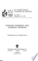 Plenary symposia and symposia sessions
