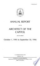 Annual Report Of The Architect Of The Capitol For The Period