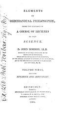 Pdf Elements of Mechanical Philosophy