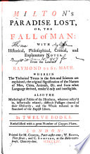 Milton s Paradise Lost  Or  The Fall of Man