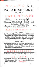 Pdf Milton's Paradise Lost; Or, The Fall of Man