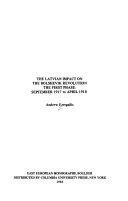 The Latvian Impact on the Bolshevik Revolution