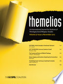 Themelios Volume 37 Issue 3 Book