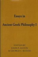 Essays in Ancient Greek Philosophy II