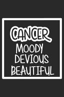 Cancer Moody Devious Beautiful Book
