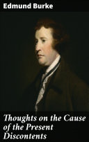 Thoughts on the Cause of the Present Discontents Pdf/ePub eBook