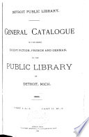 General Catalogue of the Books