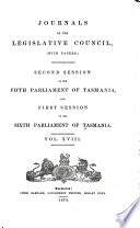 Journals of the Legislative Council  with Papers