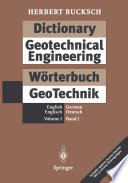 Dictionary Geotechnical Engineering   W  rterbuch GeoTechnik Book