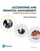 Cover of Accounting and Financial Management (Custom Edition)