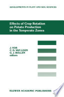 Effects of Crop Rotation on Potato Production in the Temperate Zones Book