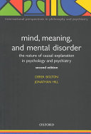 Mind  Meaning and Mental Disorder Book