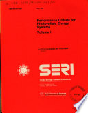 Performance Criteria for Photovoltaic Energy Systems Book