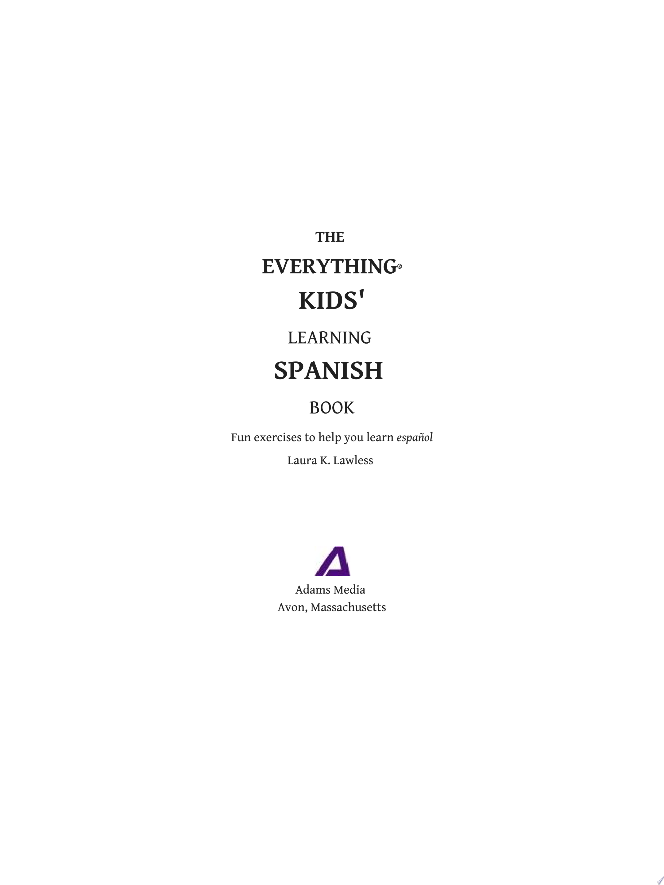 The Everything Kids  Learning Spanish Book