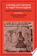 Learning and Literature in Anglo-Saxon England