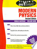 Schaum's outline of theory and problems of modern physics