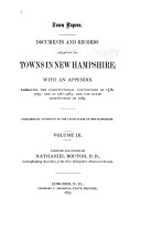 Town Papers  Documents and Records Relating to Towns in New Hampshire
