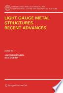 Light Gauge Metal Structures Recent Advances