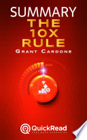 The 10x Rule By Grant Cardone Summary  PDF