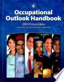 Occupational Outlook Handbook 2008 2009  Clothbound  Book