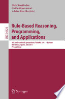 Rule Based Reasoning  Programming  and Applications Book