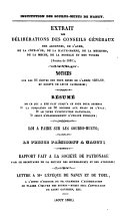 Extrait des deliberations des conseils generaux des Ardennes, de l'Aube ... Session de 1851. - Nancy 1852