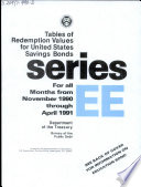 Tables of Redemption Values for United States Savings Bonds for All Months from