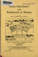 Farm Inheritance and Settlement of Estates