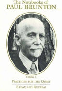 The Notebooks of Paul Brunton