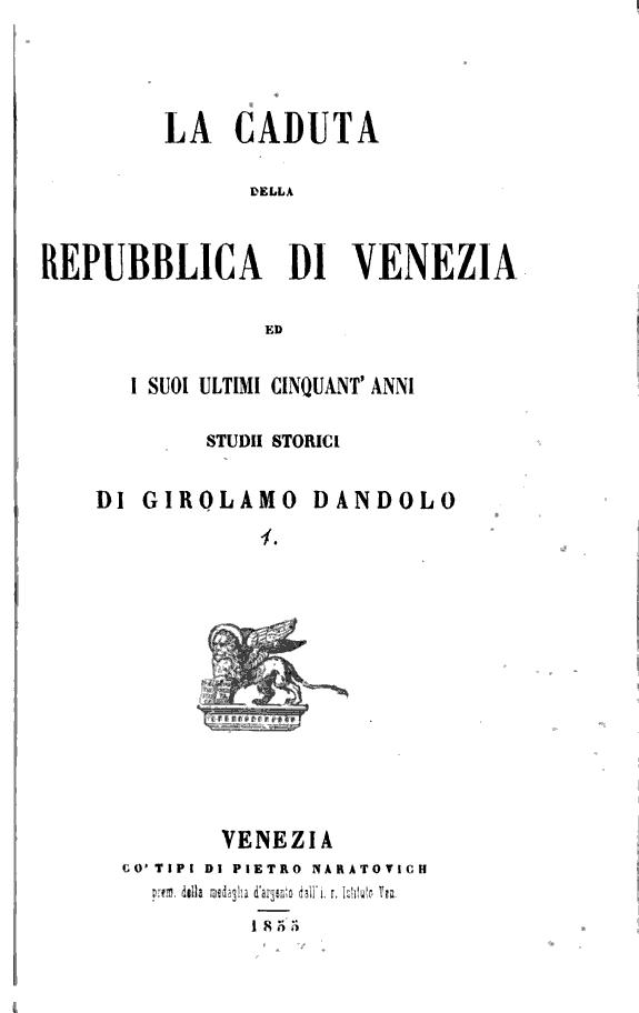La caduta della repubblica di Venezia