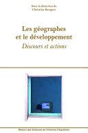 Pdf Les géographes et le développement Telecharger