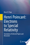 Henri Poincaré: Electrons to Special Relativity