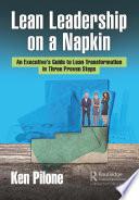 Lean Leadership on a Napkin Book