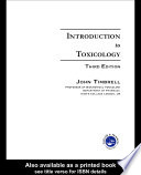 Introduction to Toxicology  Third Edition
