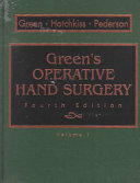 Green S Operative Hand Surgery Book PDF