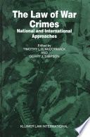 The Law of War Crimes Book