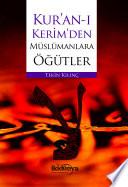 Kur'an'ı Kerim'den Müslümana Öğütler