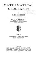 Mathematical Geography: Elementary surveying and map projection. 1930