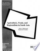 Agriculture Trade And Regionalism In South Asia Book PDF