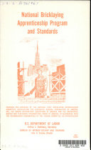National Bricklaying Apprenticeship Program and Standards     1961 Ed