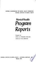 Mental Health Program Reports Book
