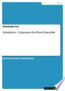Exhalation   Expiration for Wind Ensemble