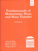 Fundamentals Of Momentum, Heat, And Mass Transfer, 4Th Ed