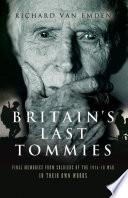 Britain S Last Tommies Book