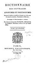 Dictionnaire des ouvrages anonymes et pseudonymes en français