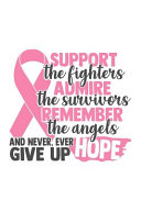 Support The Fighters Admire the Survivors Remember the Angels and Never Ever Give Up Hope Book