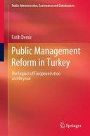 Public Management Reform In Turkey