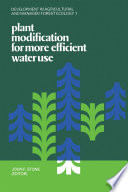 Plant Modification For More Efficient Water Use Book PDF